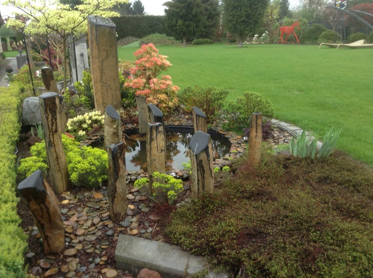 Jardin sous la pluie mai 2015